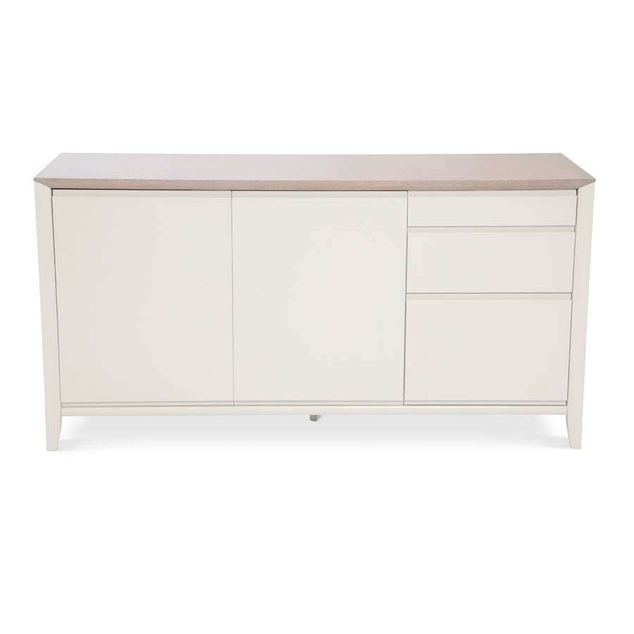 Sienna French Provincial Wooden Oak Sideboard + Built In Filing Cabinet