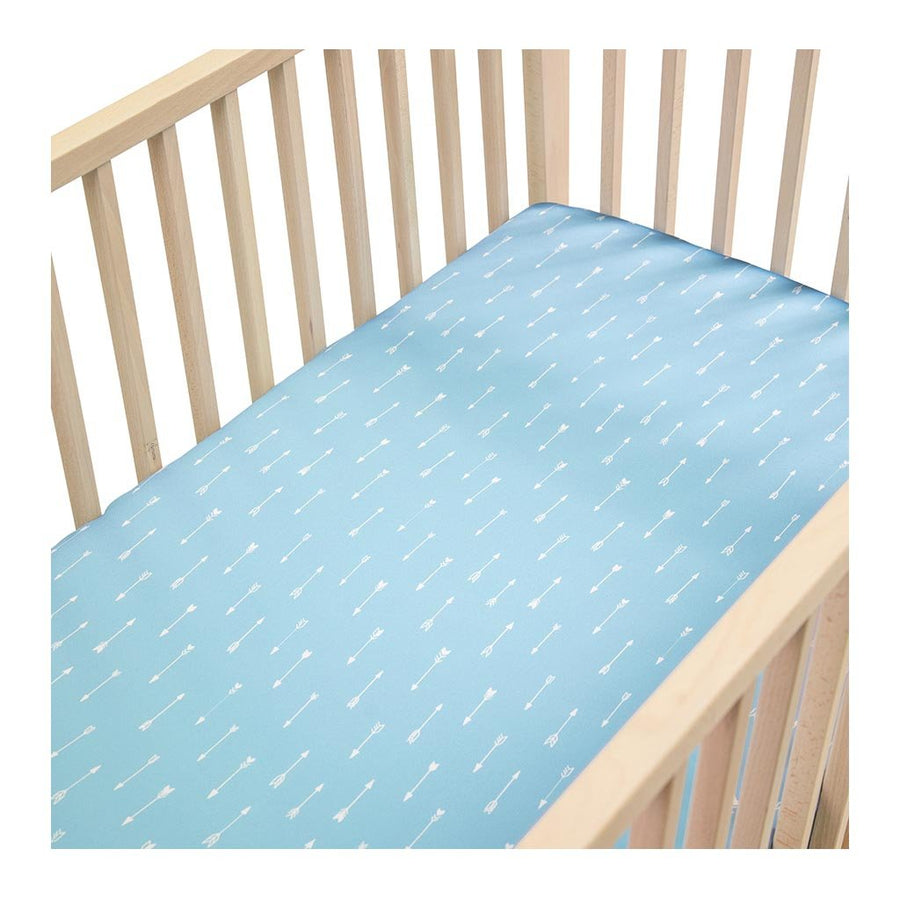 Sleepy Silk, Silk Fitted Sheet for Cots / Cribs - Sky Arrows Blue - pattern (SS-FC-BL01) for baby hair loss and baby bald spots, Silky Tots 100% Silk Cot Sheet, Pawda Baby 100% Mulberry Silk Cot Full Fitted Sheet, Monday Silks, Baby Tresses Cot Bed Sheet