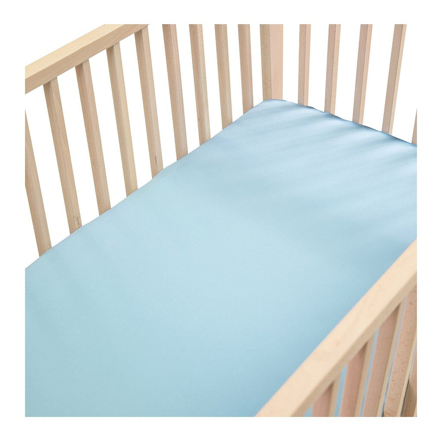 Sleepy Silk, Silk Fitted Sheet for Cots / Cribs - Sky Blue (SS-FC-BL00) for baby hair loss and baby bald spots, Silky Tots 100% Silk Cot Sheet, Pawda Baby 100% Mulberry Silk Cot Full Fitted Sheet, Monday Silks, Baby Tresses Cot Bed Sheet