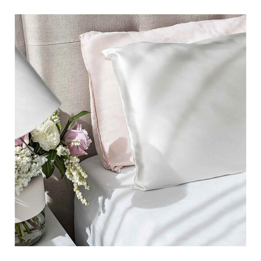 Sleepy Silk, Silk Pillowcase - Ivory White (SS-PC-WH00), Silky Tots Double Sided Silk Pillow Slip, Pawda Baby 100% Mulberry Silk Junior or Adult Pillow Case, Slip Pillowcase, SHHH Silk Silk Pillowcase