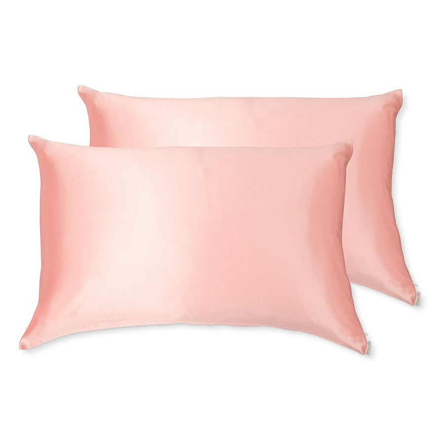 Sleepy Silk, Silk Pillowcase, Set of 2 - Blush Pink (SS-PP-PK00), Silky Tots Double Sided Silk Pillow Slip, Pawda Baby 100% Mulberry Silk Junior or Adult Pillow Case, Slip Pillowcase, SHHH Silk Silk Pillowcase