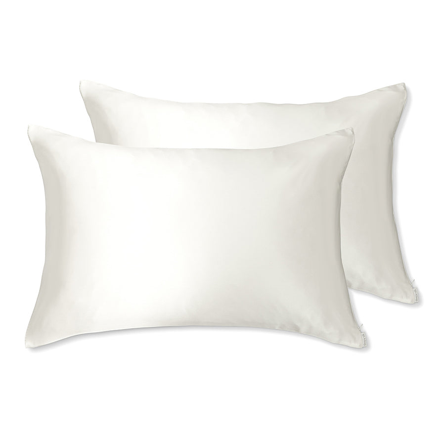 Sleepy Silk, Silk Pillowcase, Set of 2 - Ivory White (SS-PP-WH00), Silky Tots Double Sided Silk Pillow Slip, Pawda Baby 100% Mulberry Silk Junior or Adult Pillow Case, Slip Pillowcase, SHHH Silk Silk Pillowcase