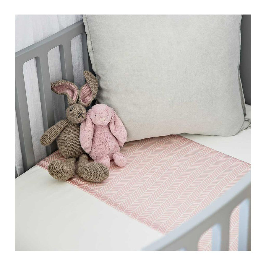 Sleepy Silk, Silk Sleeve, Set of 2 (Bassinet & Cot / Crib Sleeve) - Dove Grey - Blush Herringbone Pink - pattern (SS-BC-PK01) for baby hair loss and baby bald spots, Silky Tots Silk Cot Slip + Silk Bassinet Slip, Pawda Baby 100% Mulberry Silk Cot Semi Sheet and Silk Semi Sheet for Bassinet, Monday Silks, Baby Tresses Cot Bed Sheet