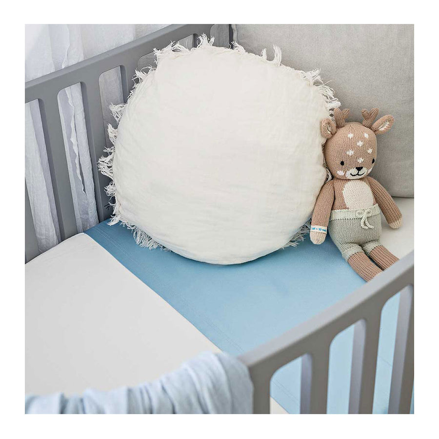 Sleepy Silk, Silk Sleeve for Cots / Cribs - Sky Blue (SS-CS-BL00) for baby hair loss and baby bald spots, Silky Tots Silk Cot Slip, Pawda Baby 100% Mulberry Silk Cot Semi Sheet, Monday Silks, Baby Tresses Cot Bed Sheet