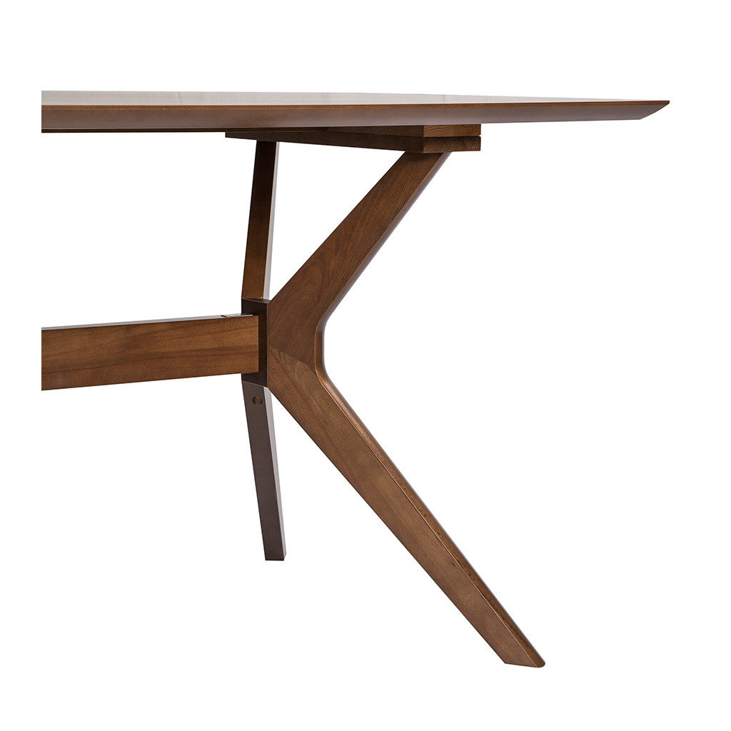 Stefan Scandinavian Walnut and Beech Wood 6 Seater Dining Table BROSA Elizabeth Dining Table INTERIOR SECRETS DT1046-VN Nora Fixed Dining Table- Walnut