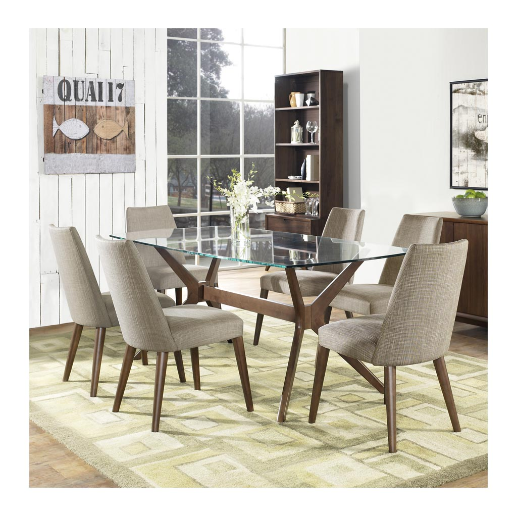 Picture of: Stefan Retro Scandinavian Glass Dining Table 6 Seater The Design Edit