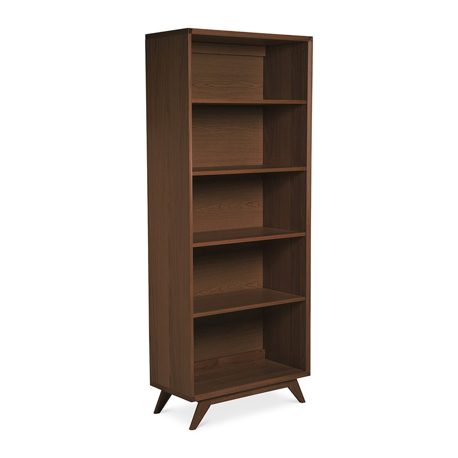 Stefan Scandinavian Walnut and Beech Wood Bookcase Bookshelf BROSA SHLELZ28WAL Elizabeth Bookcase