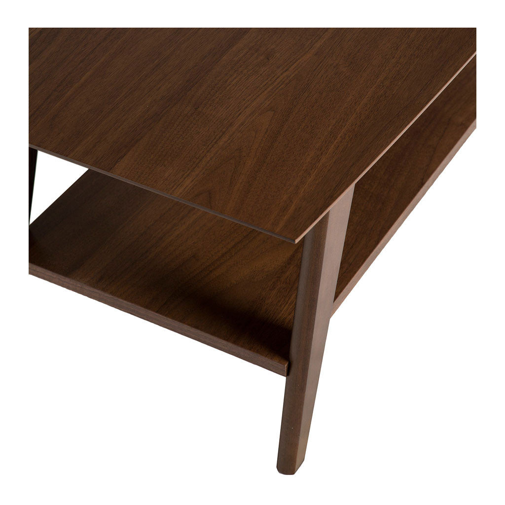 Stefan Scandinavian Walnut and Beech Wood Coffee Table with Shelf BROSA Elizabeth Coffee Table