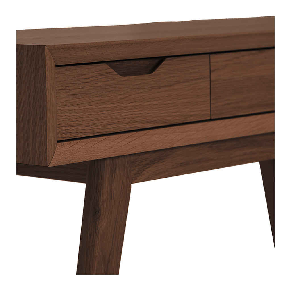 Stefan Scandinavian Walnut and Beech Wood Console Table with Drawers BROSA TBLELZ12WAL Elizabeth Dressing Table
