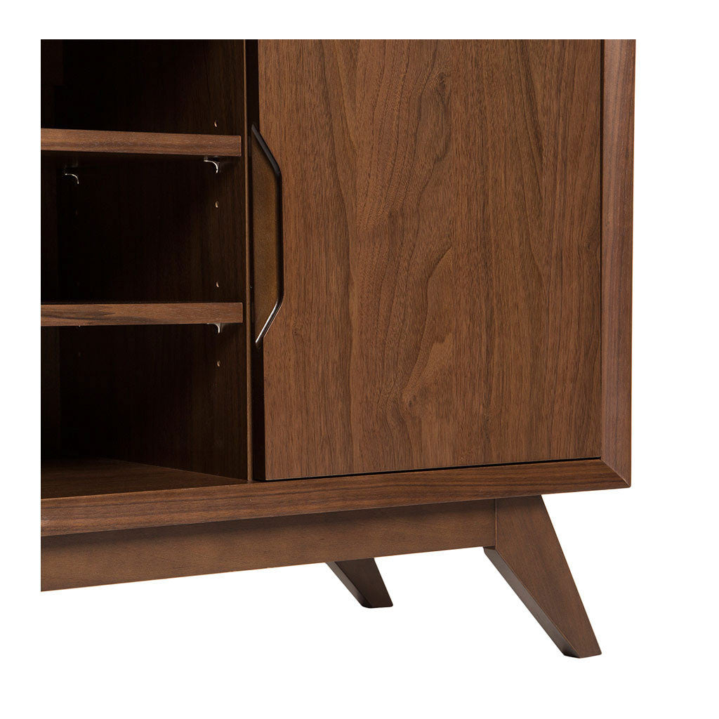 Stefan Scandinavian Walnut and Beech Wood Entertainment Unit BROSA Elizabeth Entertainment Unit