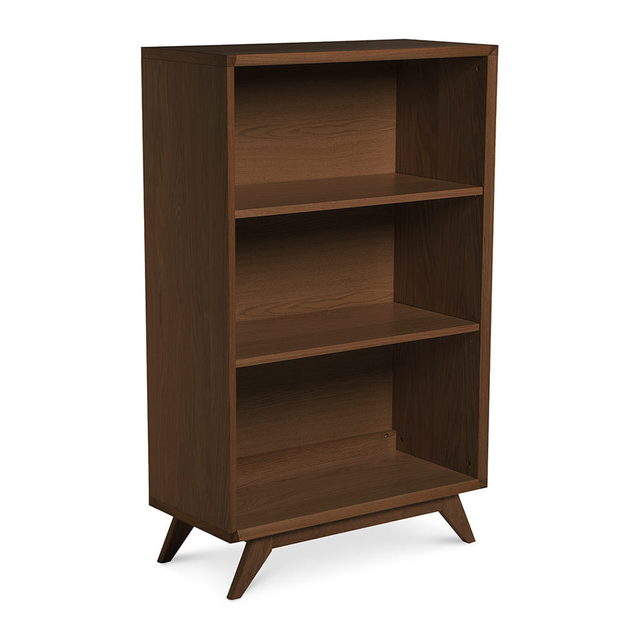 Stefan Scandinavian Walnut and Beech Wood Low Bookcase Bookshelf BROSA SHLELZ13WAL Elizabeth Low Bookcase