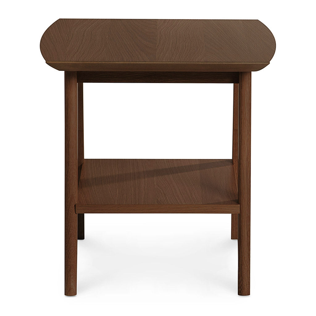 Stefan Scandinavian Walnut and Beech Wood Side Table with Shelf BROSA TBLELZ23WAL Elizabeth Lamp Table