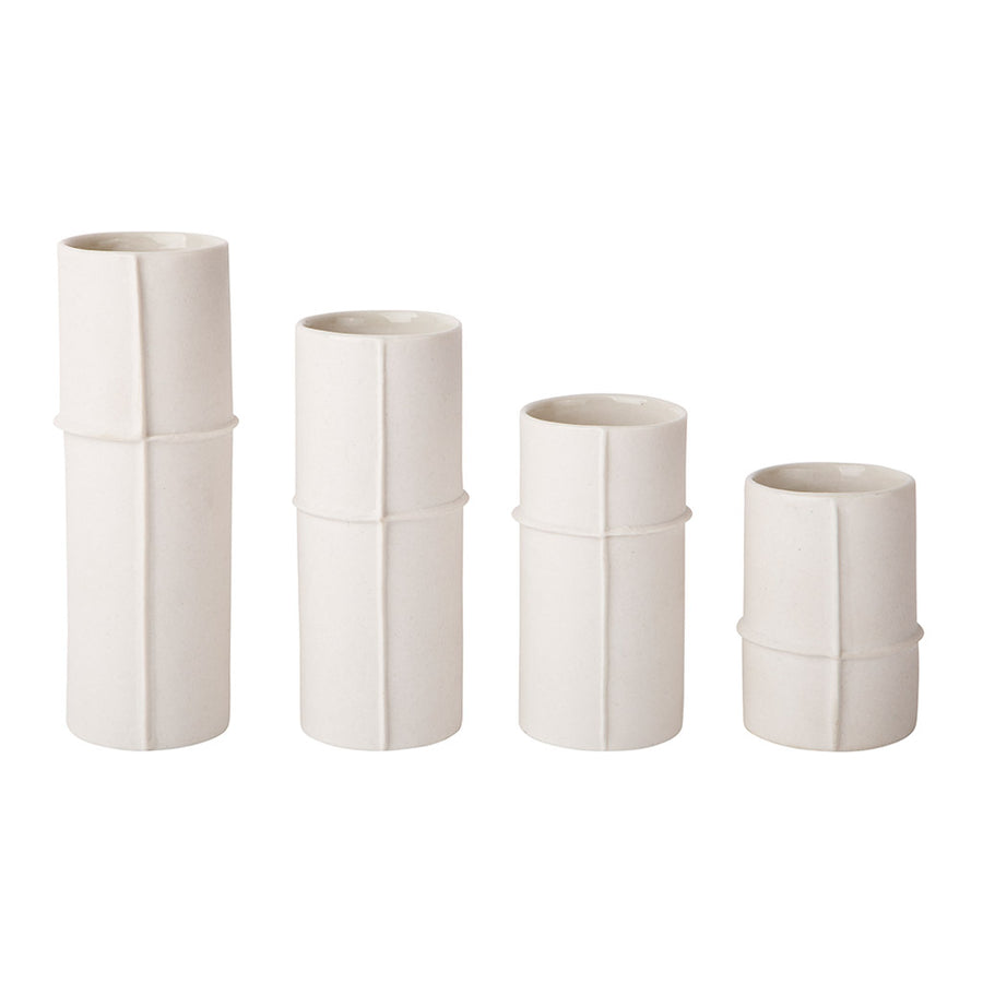 Vases Zakkia Bud Vase, Set of 4 - Raw 170103007NWHT