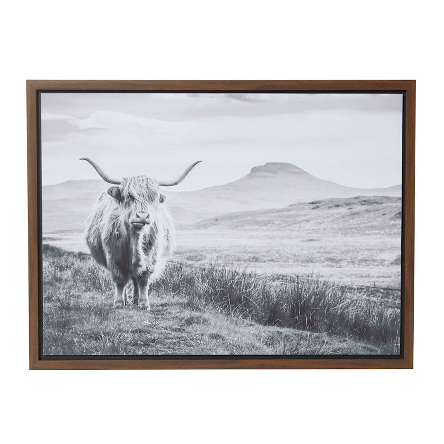 Wall Art Amalfi Highland Cow Framed Canvas Print AHDE 962