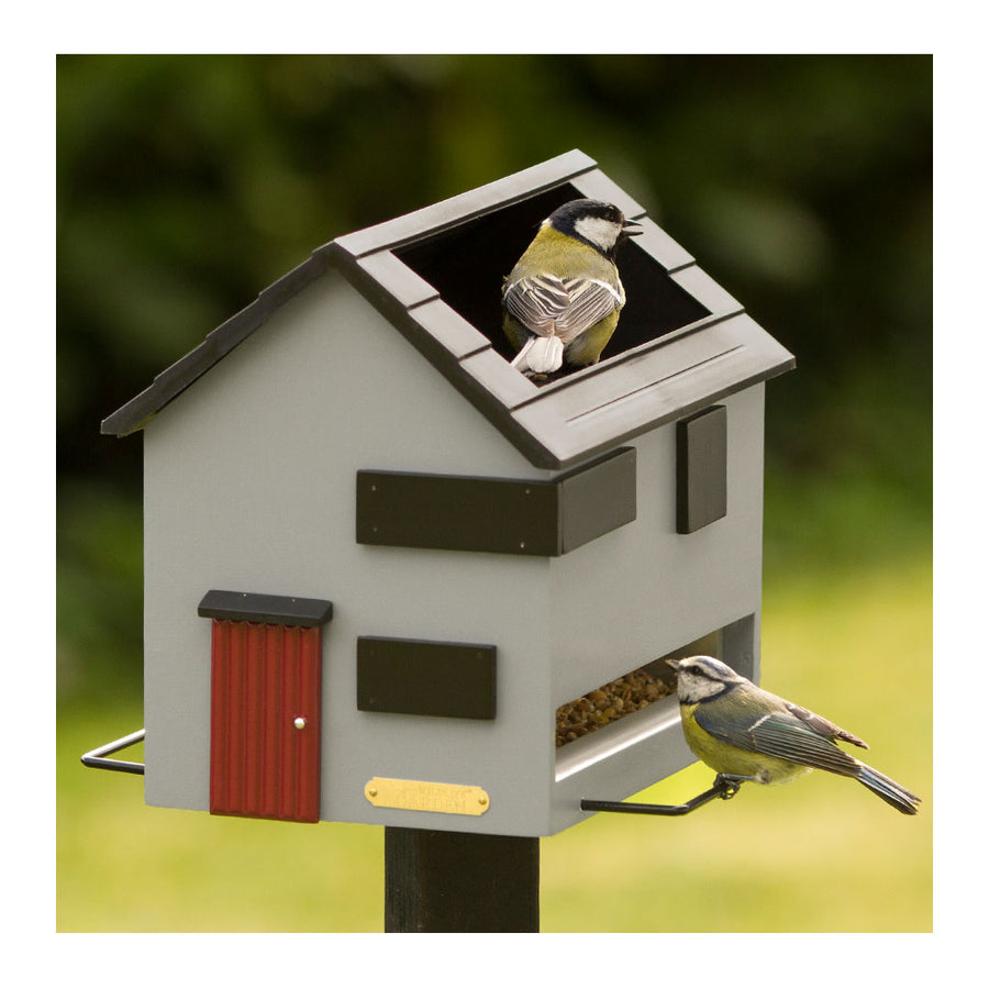 Wildlife Garden Bird Feeder with Bath Designer Bird Feeder + Bath Birdfeeder with Bath Grey House WG353
