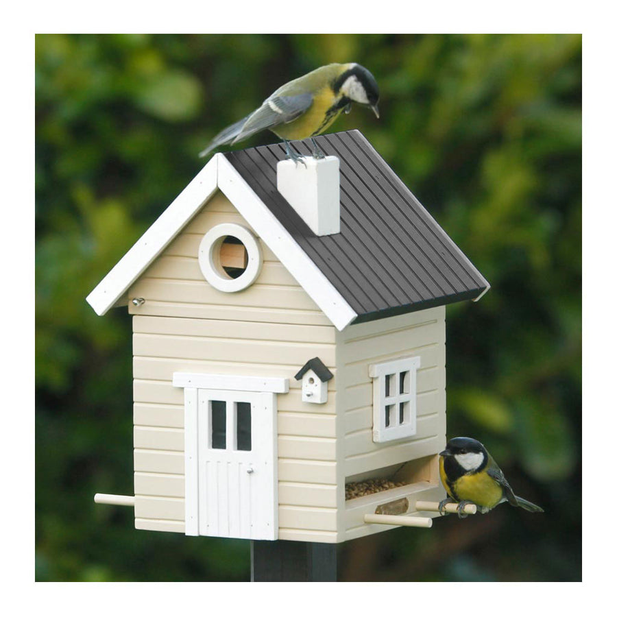 Wildlife Garden Multiholk Designer Bird House + Feeder Beige Cottage WG120