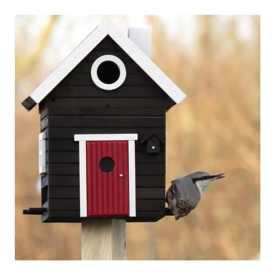 Wildlife Garden Multiholk Designer Bird House + Feeder Black Cottage WG106