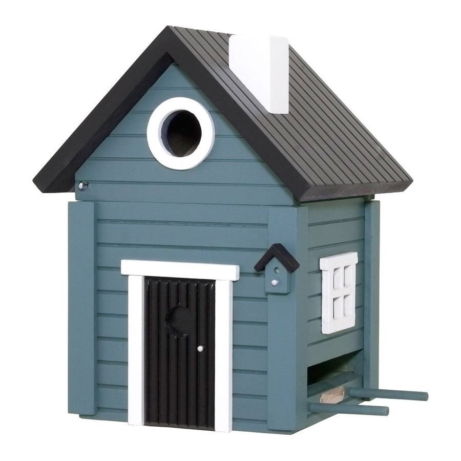 Wildlife Garden Multiholk Designer Bird House + Feeder Blue Cottage WG118