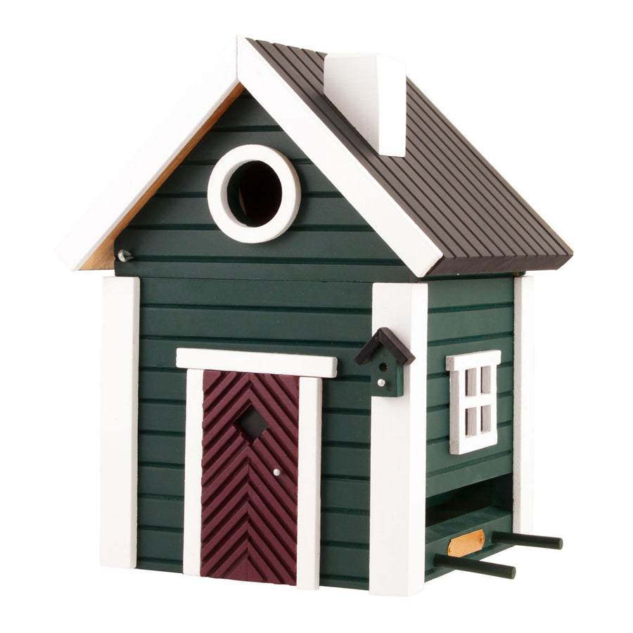 Wildlife Garden Multiholk Designer Bird House + Feeder Green Cottage WG107