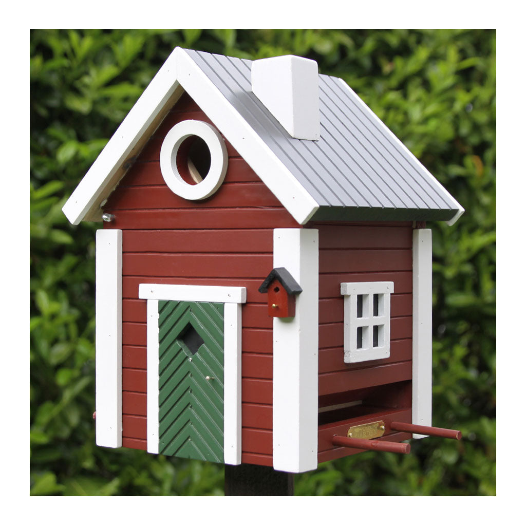 Wildlife Garden Multiholk Designer Bird House + Feeder Red Cottage WG101