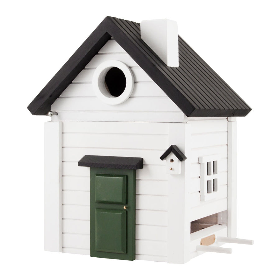 Wildlife Garden Multiholk Designer Bird House + Feeder White Cottage WG114
