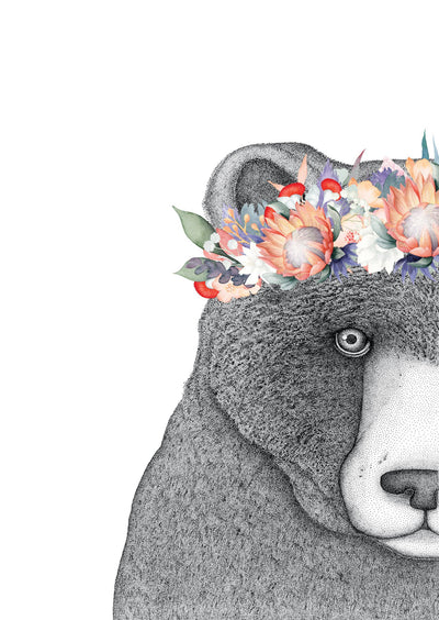 Beryl the Bear with Protea Crown