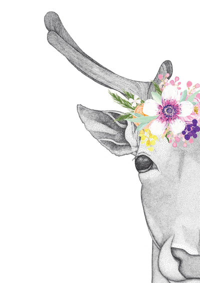 Daphne the Deer with Flower Crown