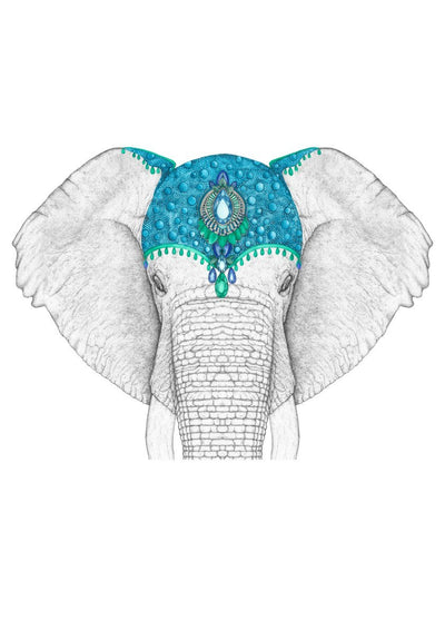Ethan the Elephant with Jewel Crown- Full Face