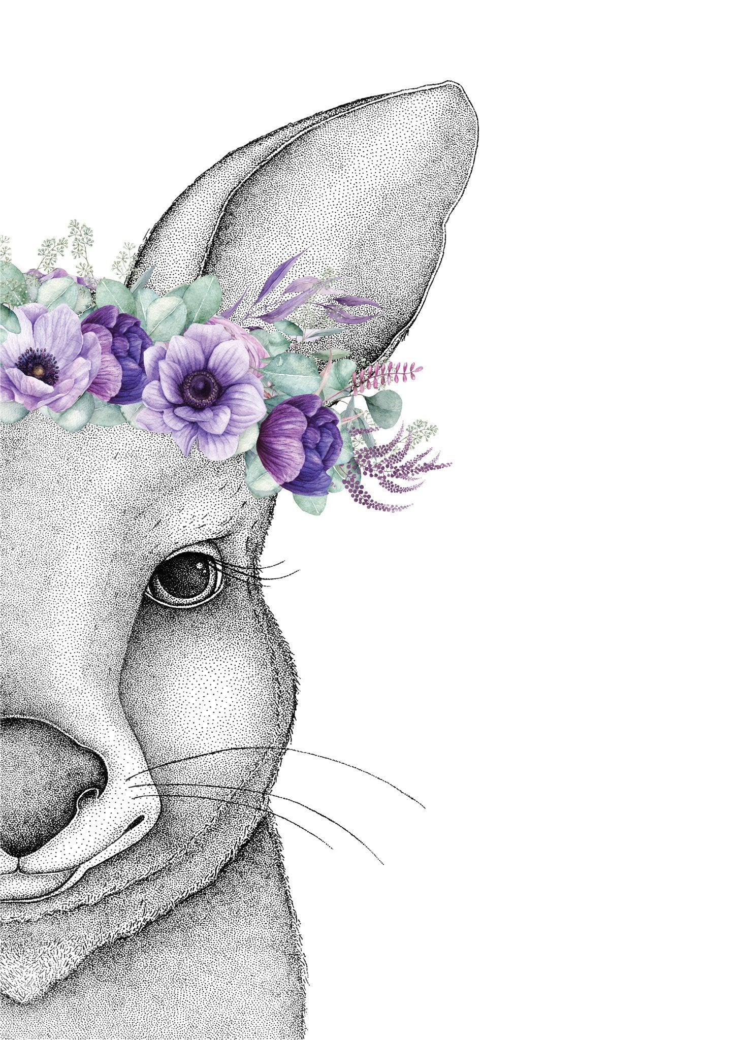 Jasmine The Joey With Flower Crown Dots By Donna