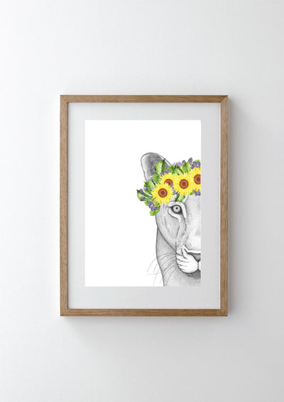 Linda the Lioness with Sunflower Crown