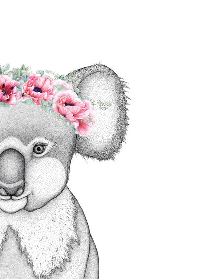 Kerry the Koala with Poppy Crown