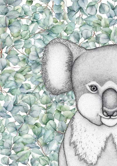Kenneth the Koala with Eucalyptus Leaves