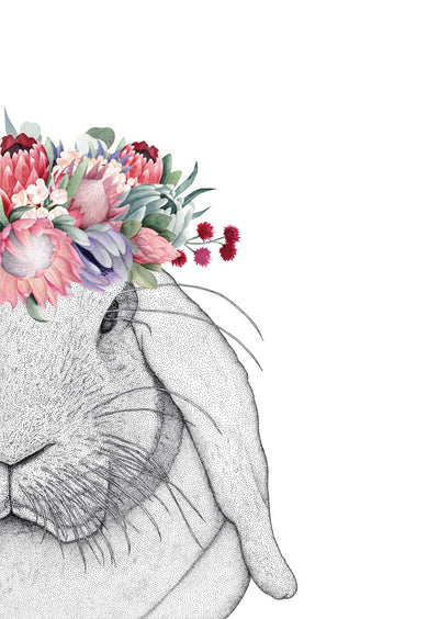 Rebekah the Rabbit with Protea Crown