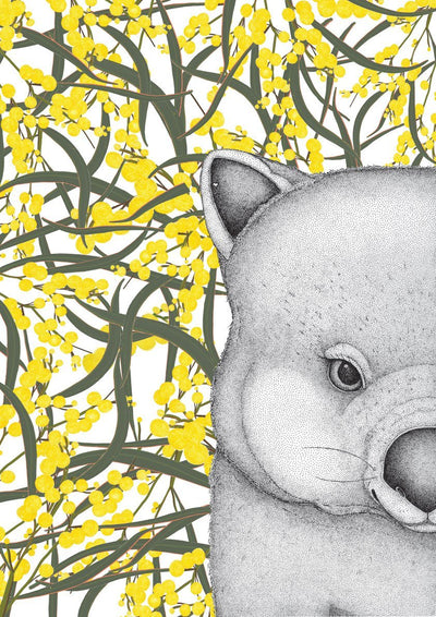 Walter the Wombat with Wattle