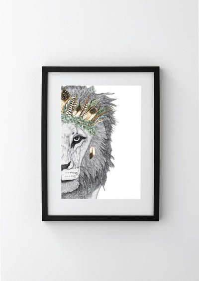 Leo the Lion with Luxe Feather Crown