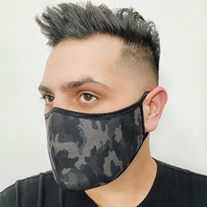 Black Camouflage Mask (Ear Loops)