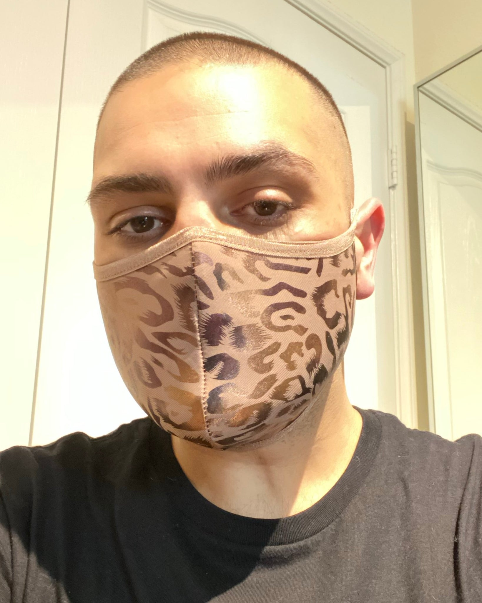 Nude Cheetah Mask (Tie Straps)