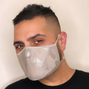 Silver Camouflage Mask (Tie Straps)