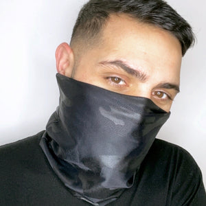 Black Camouflage Face Sleeve