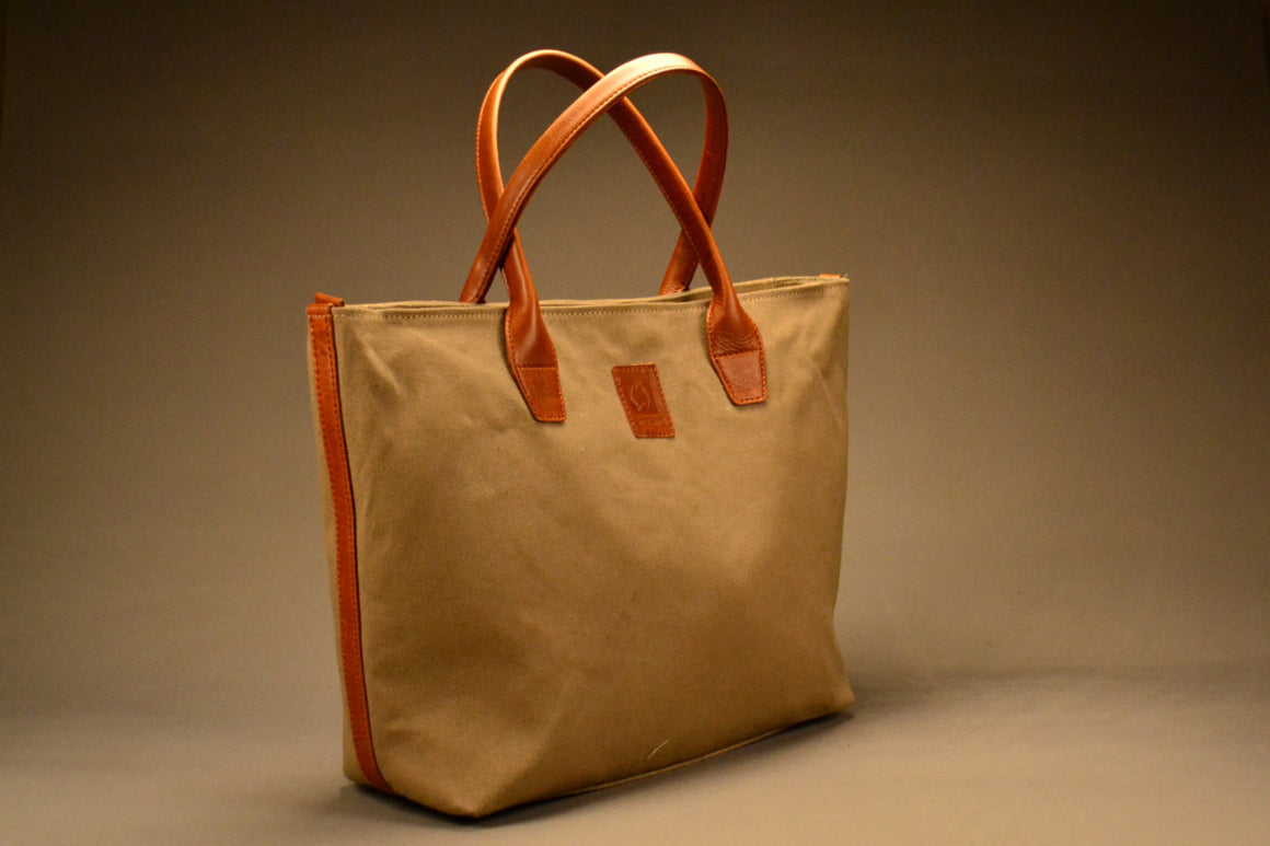 Cohort Tote - Canvas & Leather