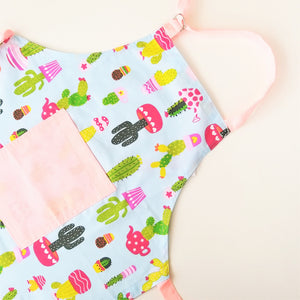 Kids Apron - Cactus in Blue or White