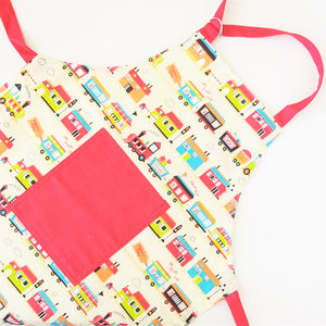 Kids Apron - Vintage Train, Perfect for Christmas