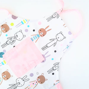 Kids Apron - Bunnies in Blue or White