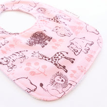 Load image into Gallery viewer, Baby Bib - Safari Animals