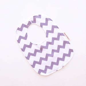 Baby Bib - Grey Chevron
