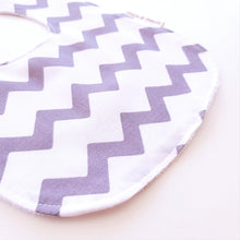 Load image into Gallery viewer, Baby Bib - Grey Chevron