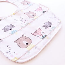 Load image into Gallery viewer, Baby Bib - Unisex Woodland Animals