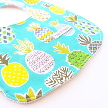 Load image into Gallery viewer, Baby Bib - Pineapples in Green or Yellow