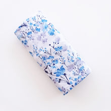 Load image into Gallery viewer, Breastfeeding Cover - Blue Waterpaint Flowers