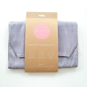Change Mat - Cotton Linen in Grey